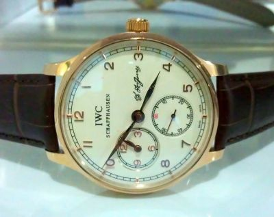 IWC Portuguese F.A Jones Chronograph Automatic Men watch / Rose
